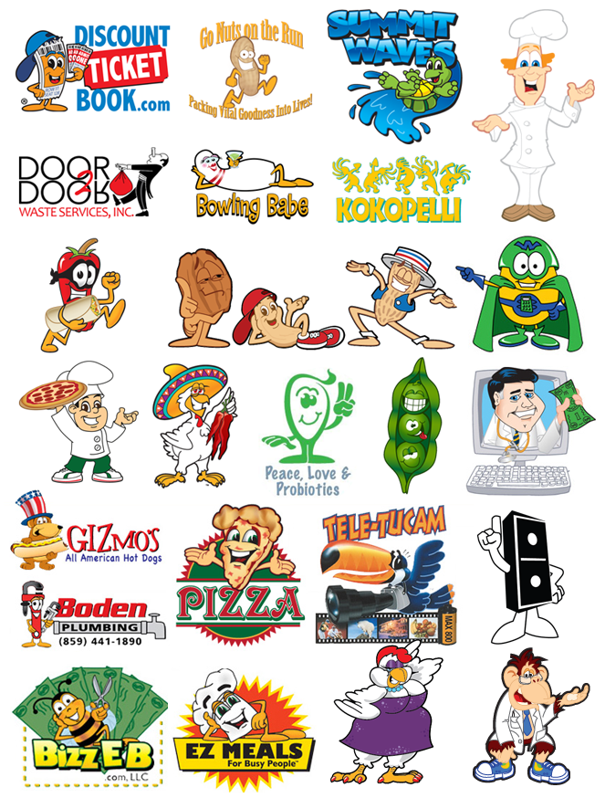 Cartoon Brand Mascot Logo Design samples